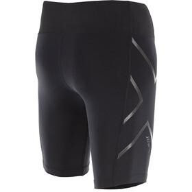 2XU W's Hyoptik Mid-Rise Compression Shorts Black/Black Reflective